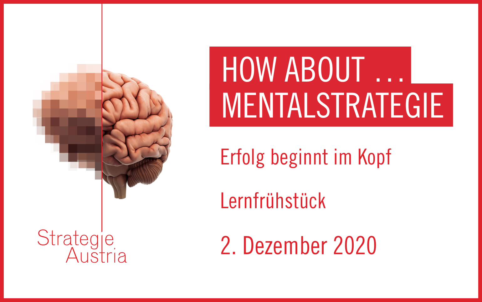How about… Mentalstrategie